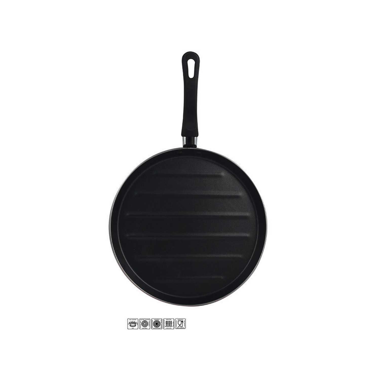 Grill Clásica de Acero Esmaltado  Zen Noir 28cm Negro -