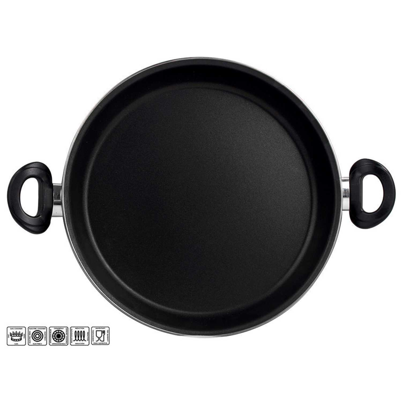 Paellera Clásica de Acero Esmaltado  Zen Noir 30cm  Negro -