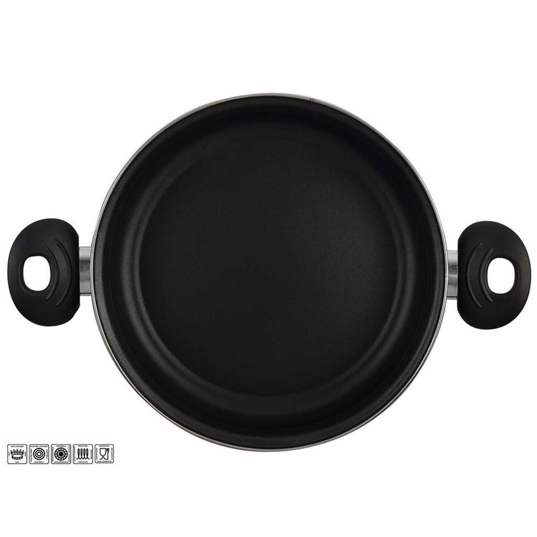 Cacerola Clásica de Acero Esmaltado MAGEFESA Zen Noir 24cm - Negro -