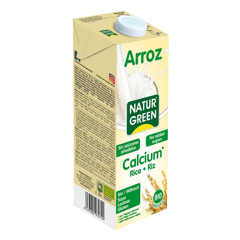 Bebida de arroz ecológica Naturgreen sin gluten sin lactosa con calcio brik 1 l.