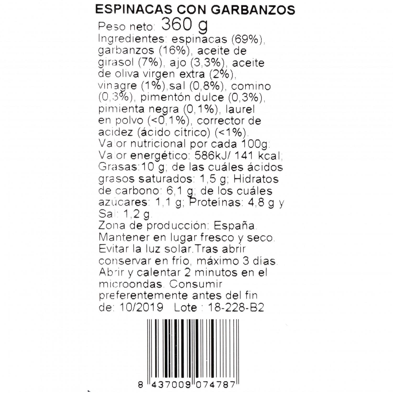Espinacas con garbanzos - 3