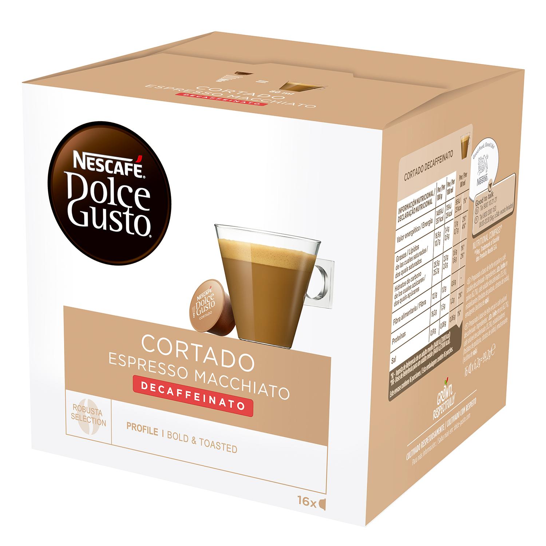 Café espresso macchiato descafeinado en cápsulas