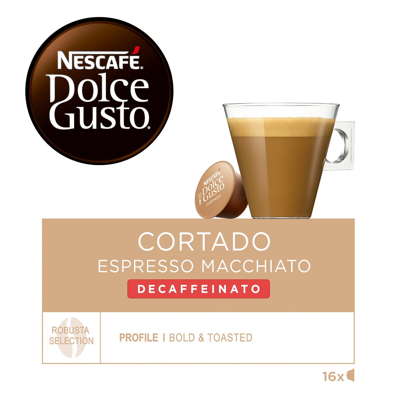 Café espresso macchiato descafeinado en cápsulas -