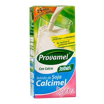 Bebida de soja calcimel ligera Santiveri brik 1 l.