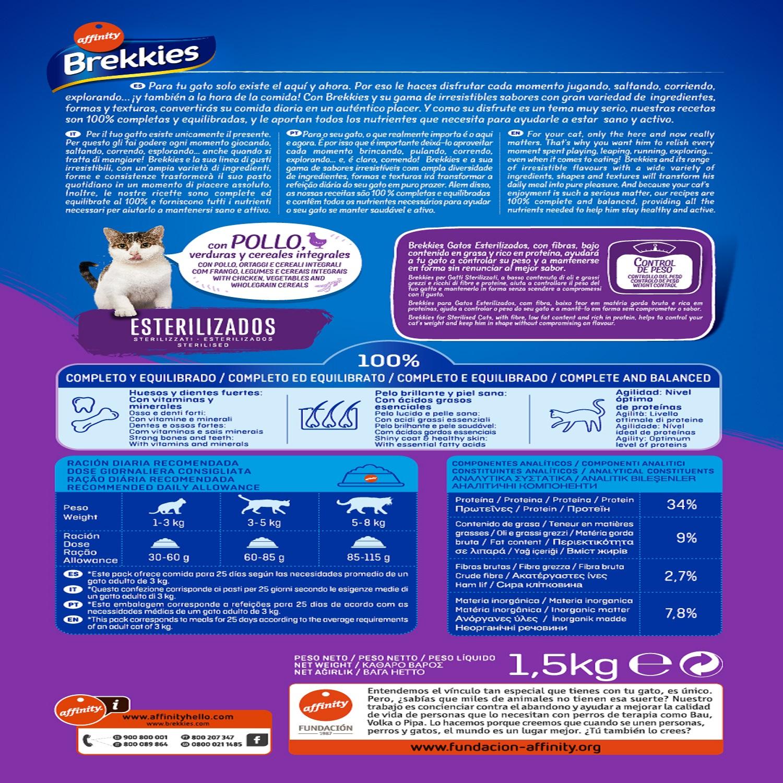 Brekkies Pienso para Gato  esterilizados 1,5 kg - 2