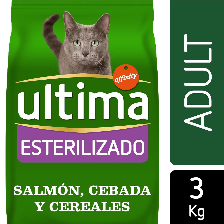 Ultima Pienso para Gato Esterelizado Sabor salmón 3kg -