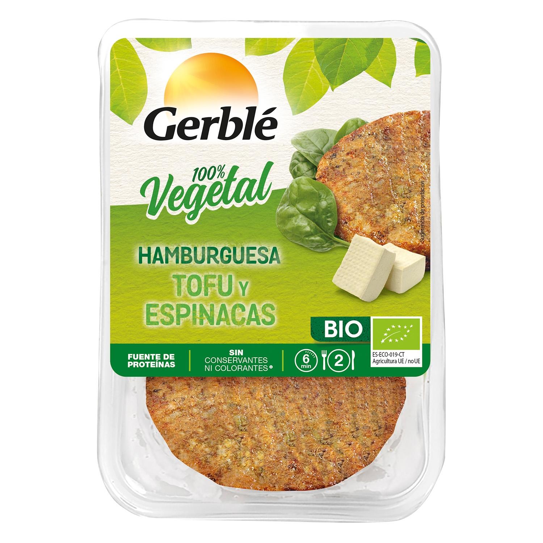 Hamburguesa de tofu y espinacas Bio