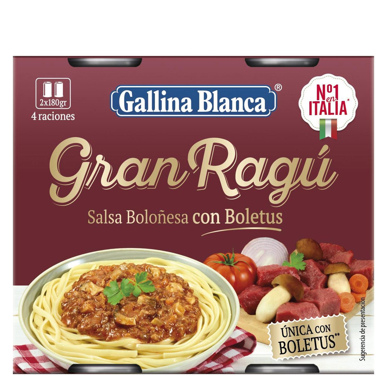 Salsa boloñesa con boletus Gran Ragú