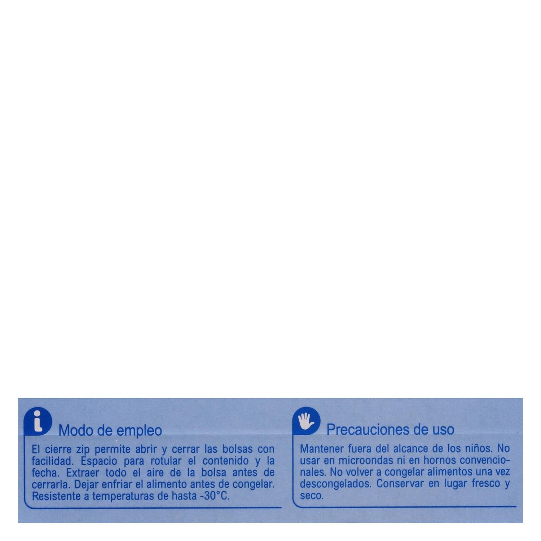 Bolsas de congelación grandes cierre zip Carrefour 15 ud. -