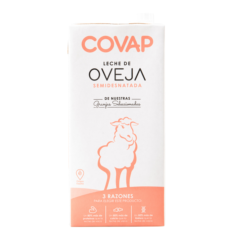 Leche semidesnatada de oveja Covap brik 1 l.
