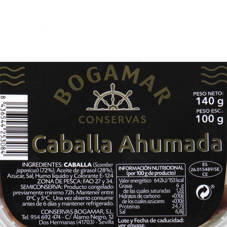 Filete de caballa ahumada, Conservas Bogamar 100 g - 3
