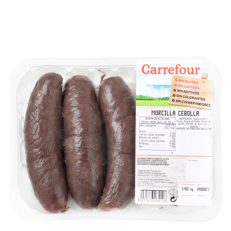 Morcilla de Cebolla Sin Aditivos Carrefour 400 g - 2