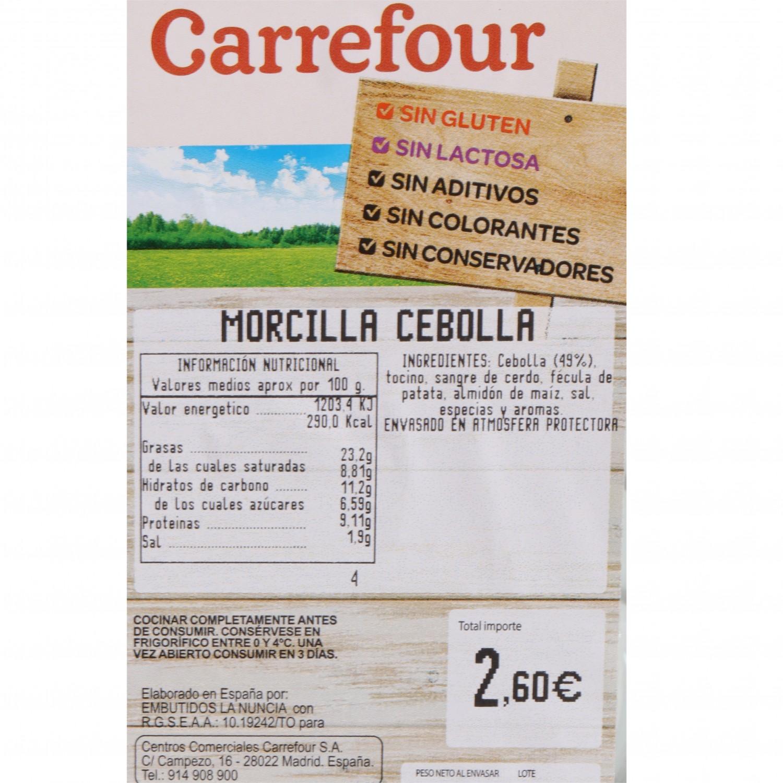 Morcilla de Cebolla Sin Aditivos Carrefour 400 g - 3
