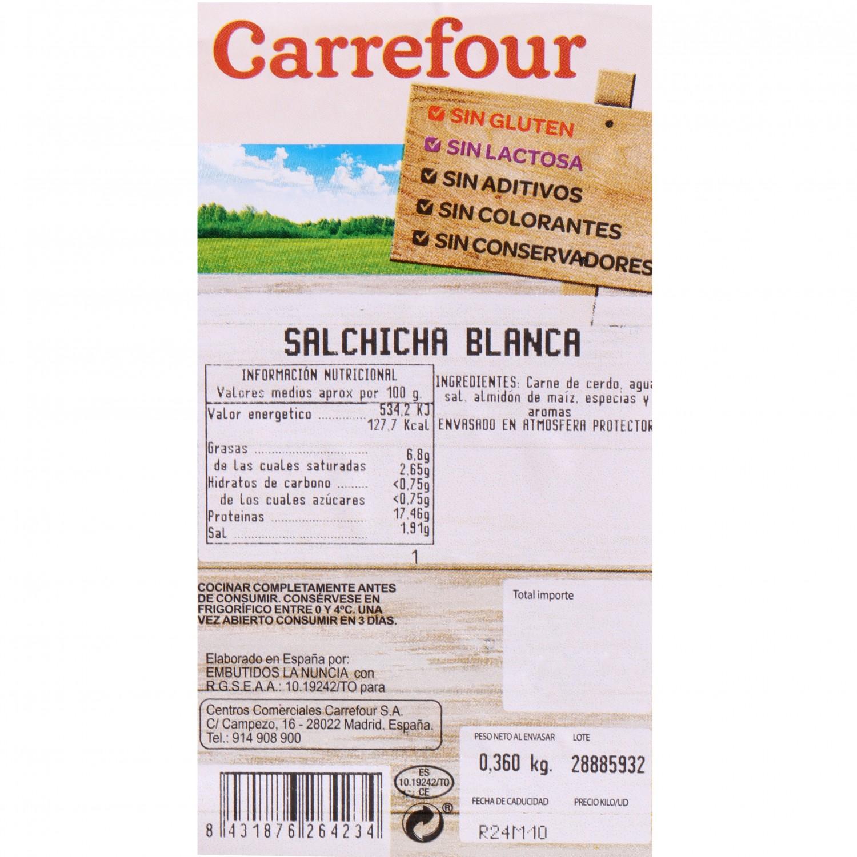 Salchicha Blanca Sin Aditivo Carrefour 360 g - 3
