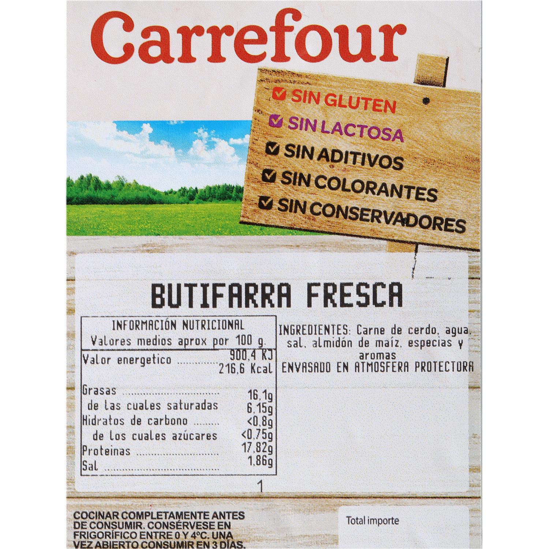 Butifarra Blanca Fresca Carrrefour Sin Aditivos 500 g - 3