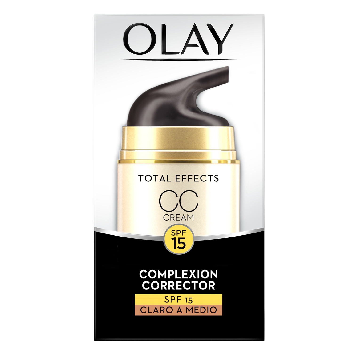 Crema CC correctora Total Effects SPF15 claro a medio Olay 50 ml.