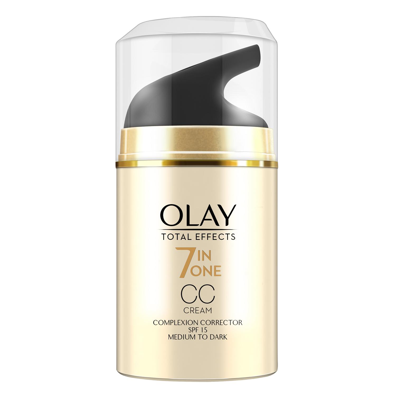 Crema CC correctora Total Effects SPF15 medio a oscuro Olay 50 ml. -