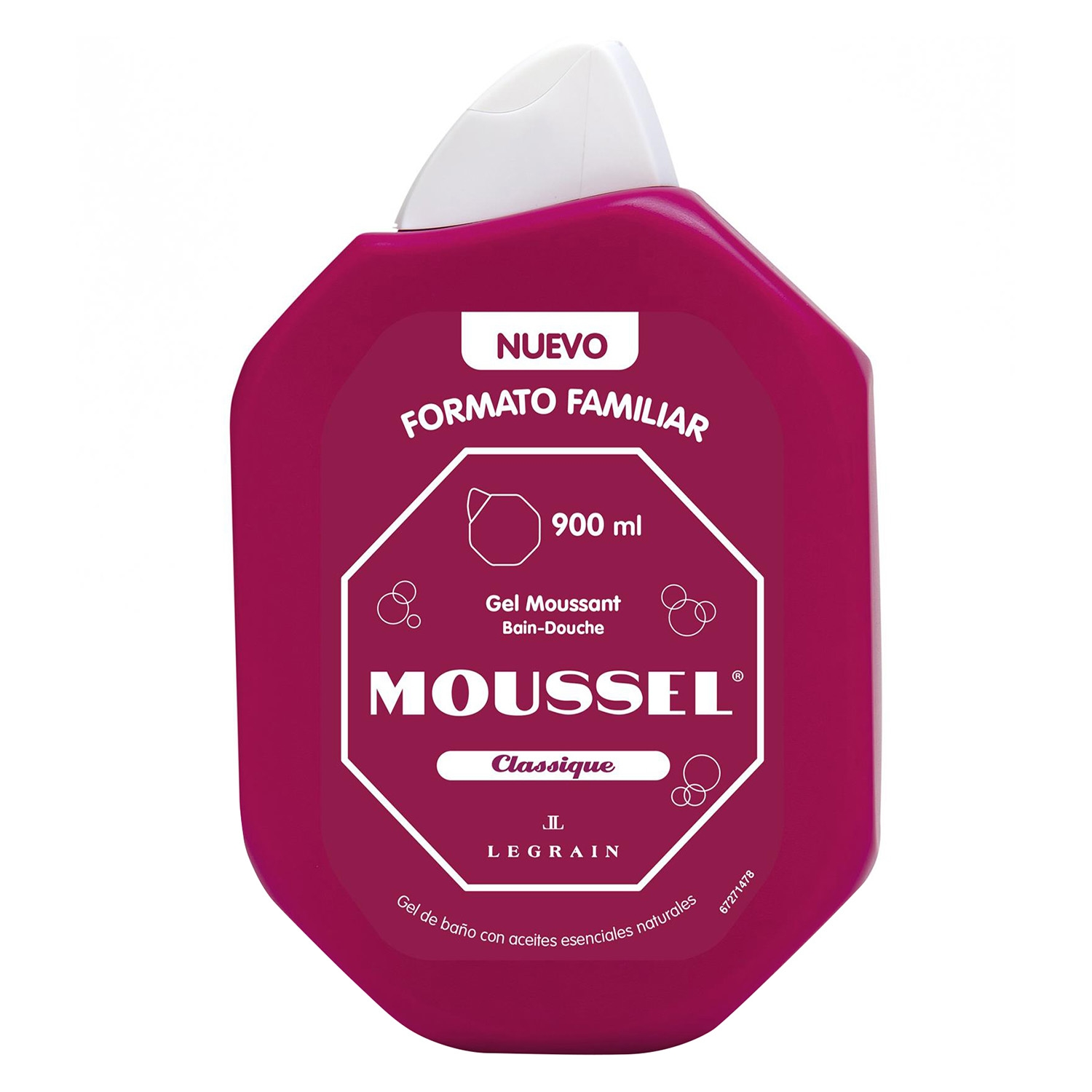 Gel de ducha clásico Moussel 900 ml.