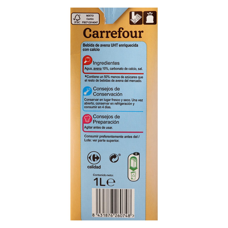 Bebida de avnea Carrefour con calcio brik 1 l. - 3