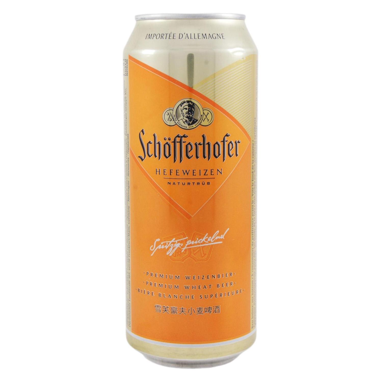Cerveza Schöfferhofer blanca de trigo lata 50 cl.
