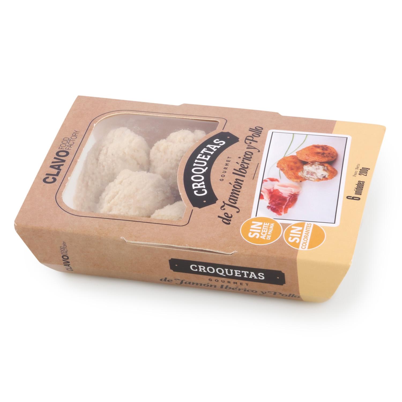 Croquetas de Jamón Ibérico y Pollo Gourmet Clavo Food (6 uds) 200 g