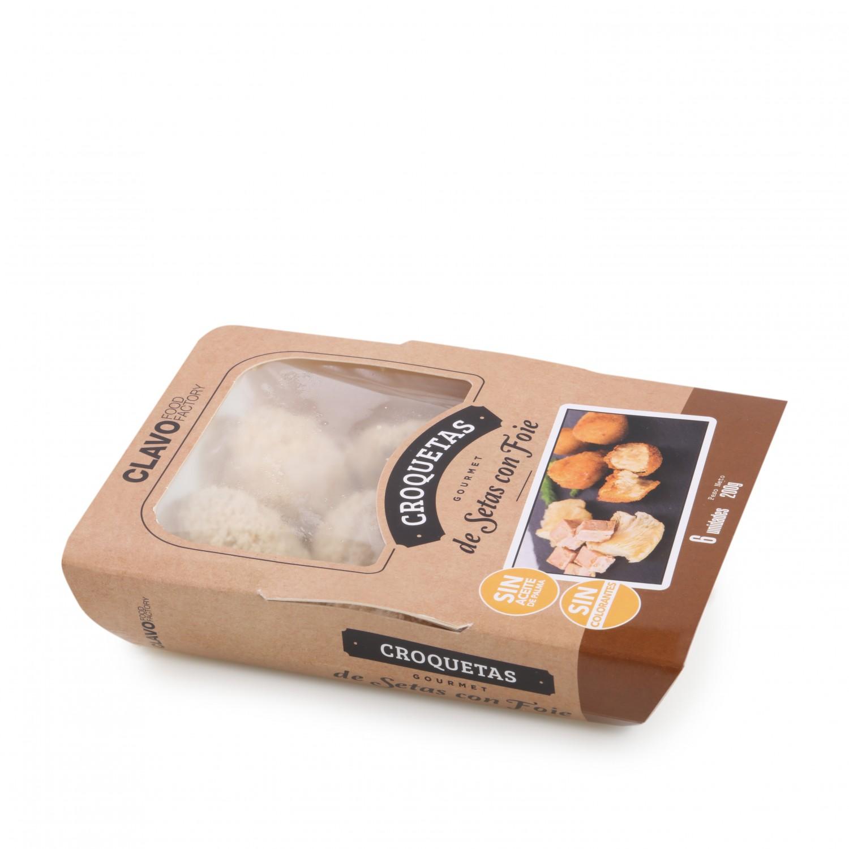 Croquetas de Setas con Foie Gourmet Clavo Food (6 uds) 200 g