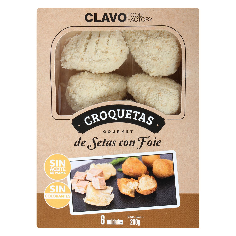 Croquetas de Setas con Foie Gourmet Clavo Food (6 uds) 200 g - 2