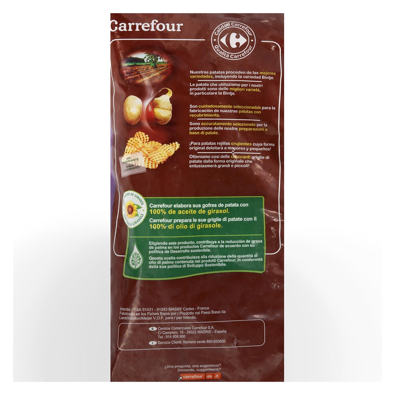 Patatas rejilla condimentadas Carrefour 600 g. - 2