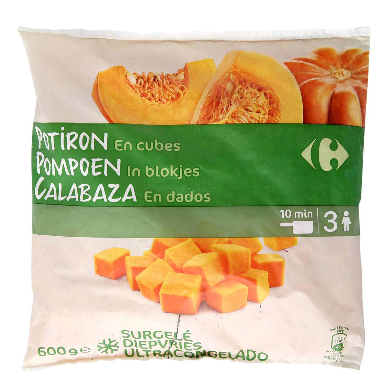 Calabaza en dados Carrefour 600 g.