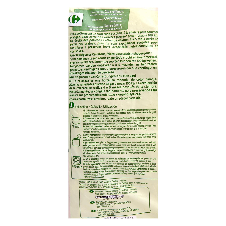 Calabaza en dados Carrefour 600 g. - 2