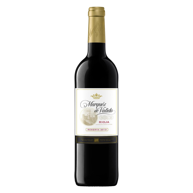 Vino D.O. Rioja tinto Reserva Marqués de Valido 75 cl.