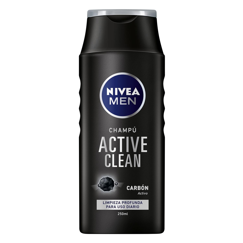 Champú Active clean con carbón activo Nivea Men 250 ml.