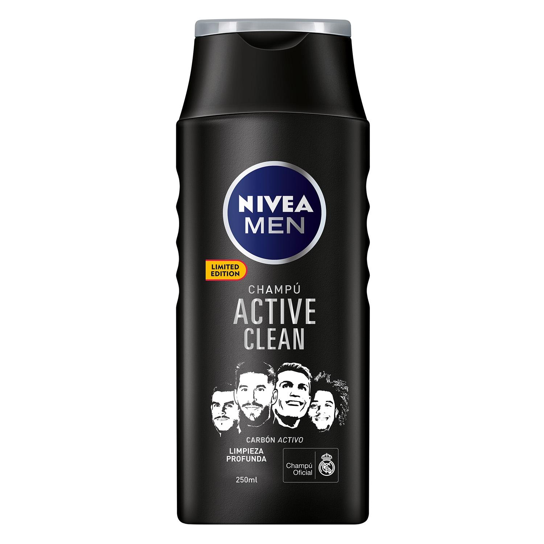 Champú Active clean con carbón activo Nivea Men 250 ml. -