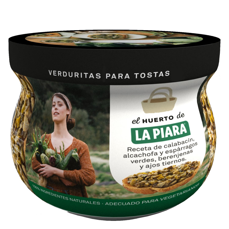 Verduritas para tostas: calabacín,alcachofa,espárragos, berenejas y ajos tiernos