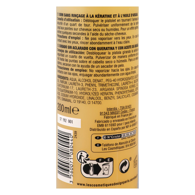 Keratina líquida con aceite de argán para cabello castigado Les Cosmétiques 200 ml. -