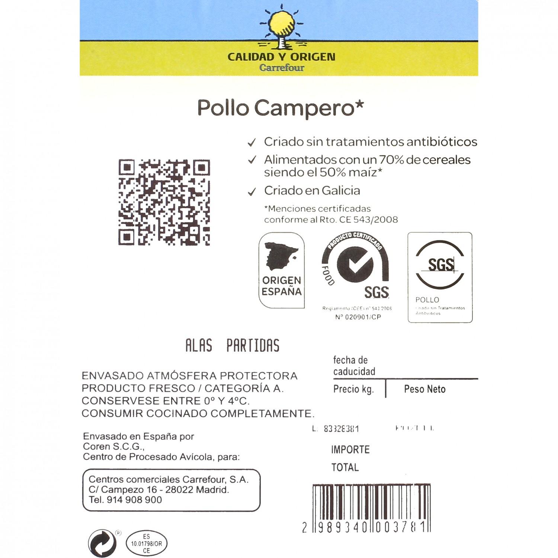 Escalope de Pollo Campero Calidad y Origen Carrefour 500 g aprox - 2