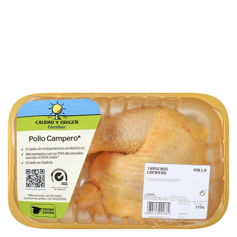 Traseros de Pollo Campero Precortados Calidad y Origen Carrefour 450 g aprox - 2