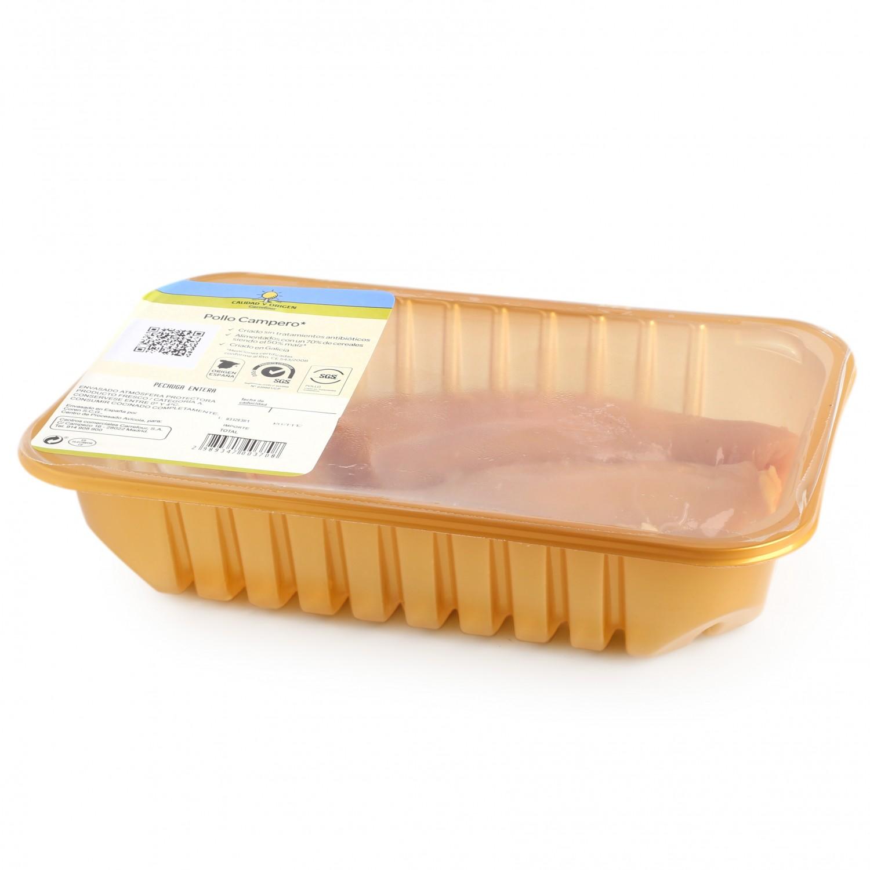 Pechuga de Pollo Campero Entera Calidad y Origen Carrefour 450 g aprox