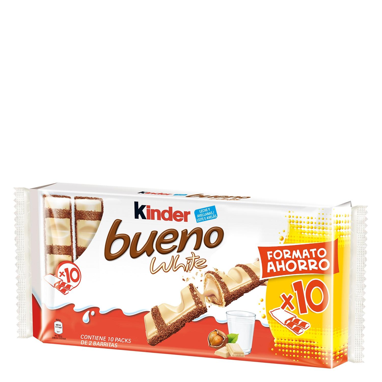 Barritas de chocolate blanco y crema de avellana