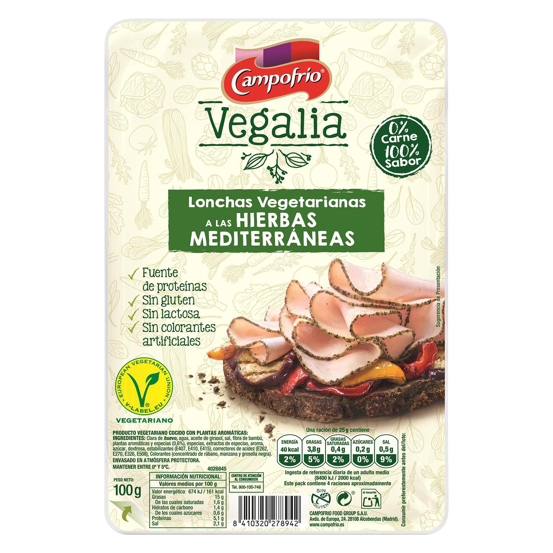 Lonchas vegetarianas a las hierbas mediterraneas