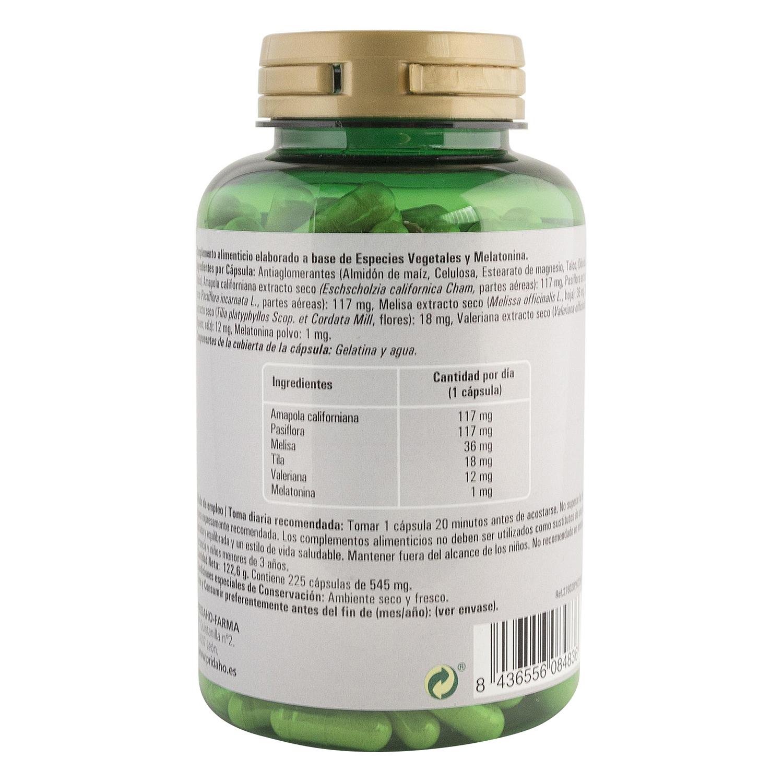 Melatonina dulces sueños Phytofarma 225 cápsulas. -
