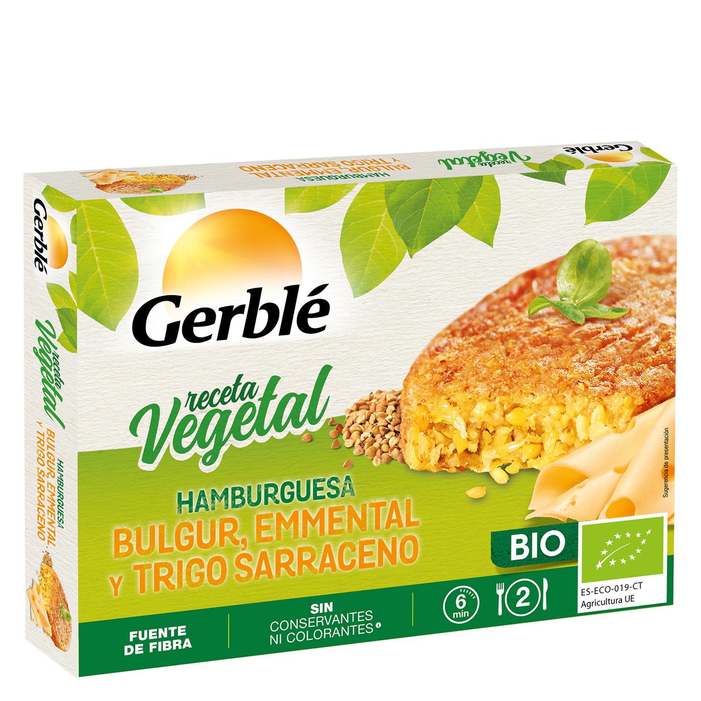 Hamburguesa Bio de bulgur, trigo saraceno y queso emmental