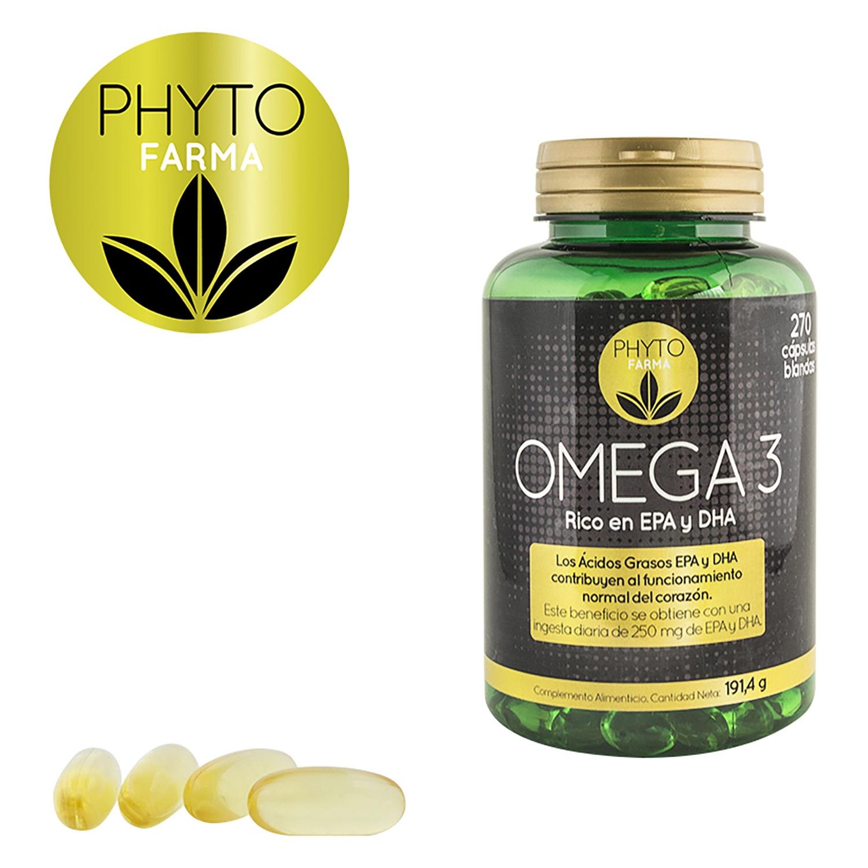 Omega 3 rico en EPA y DHA Phytofarma 270 cápsulas. - 2