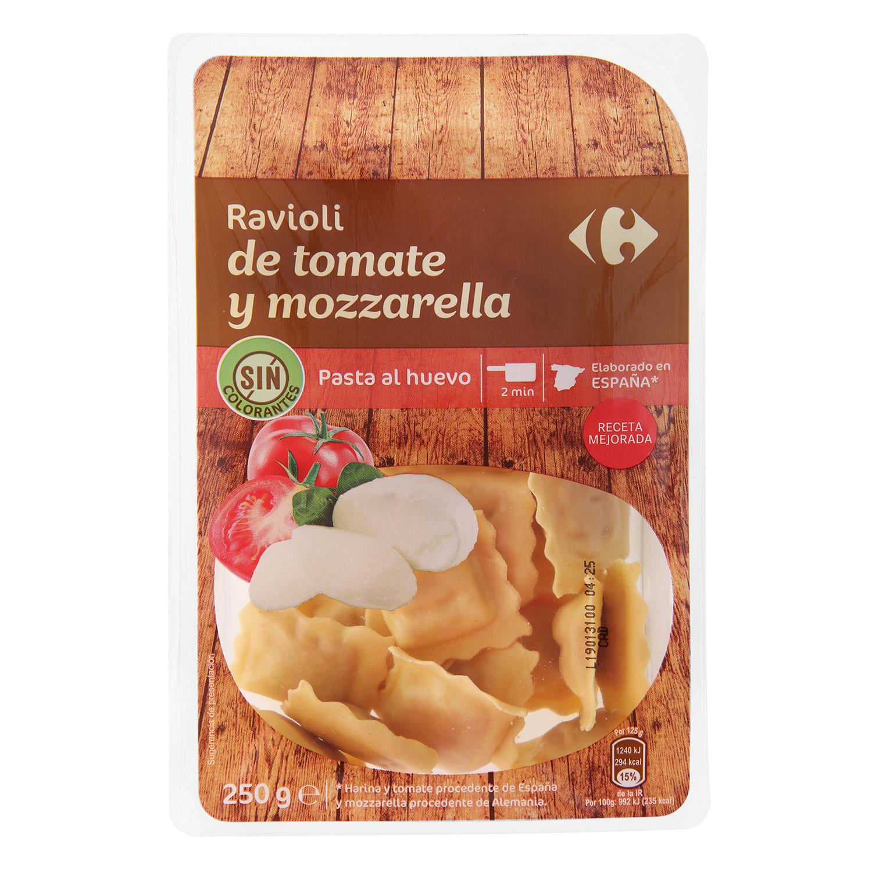 Ravioli de tomate y mozzarella Carrefour al huevo 250 g.
