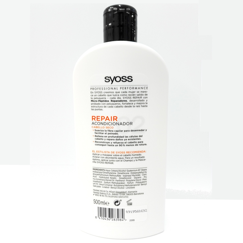 Acondicionador cabello seco Repair SYOSS 500 ml. -