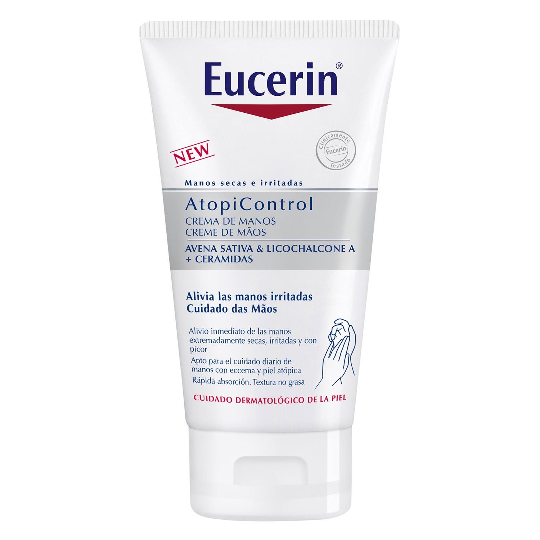 Crema de manos AtopiControl manos secas e irritadas Eucerin 75 ml.