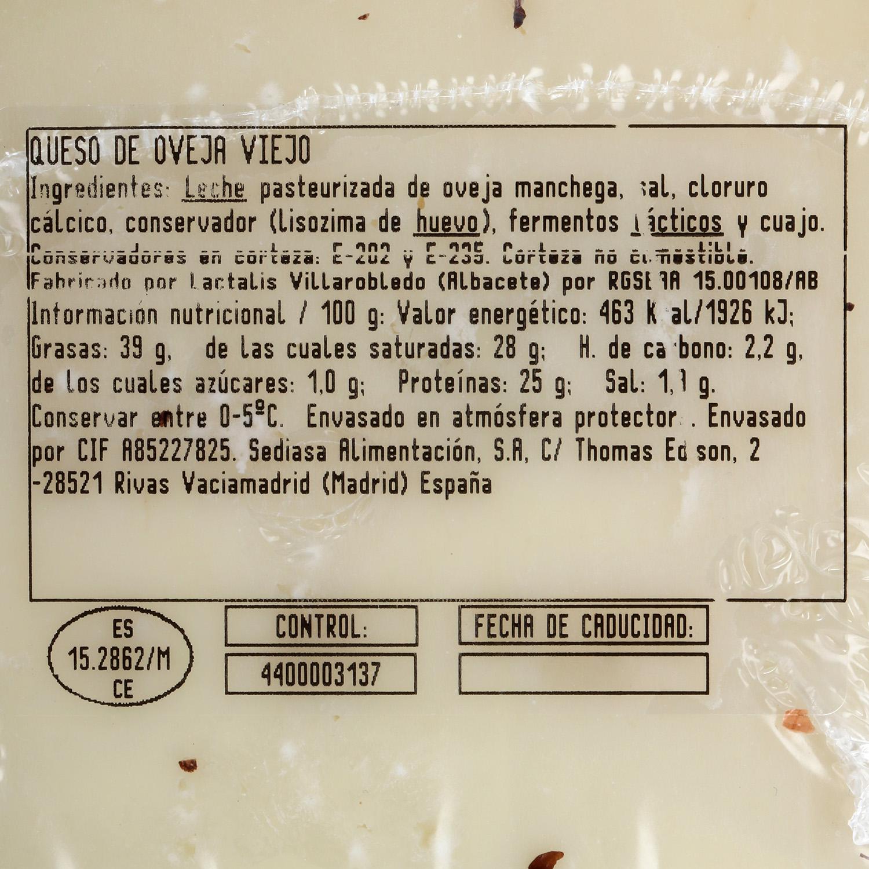Queso puro de oveja D.O. Manchego Don Bernardo Oro cuña 1/8, 350 g - 3