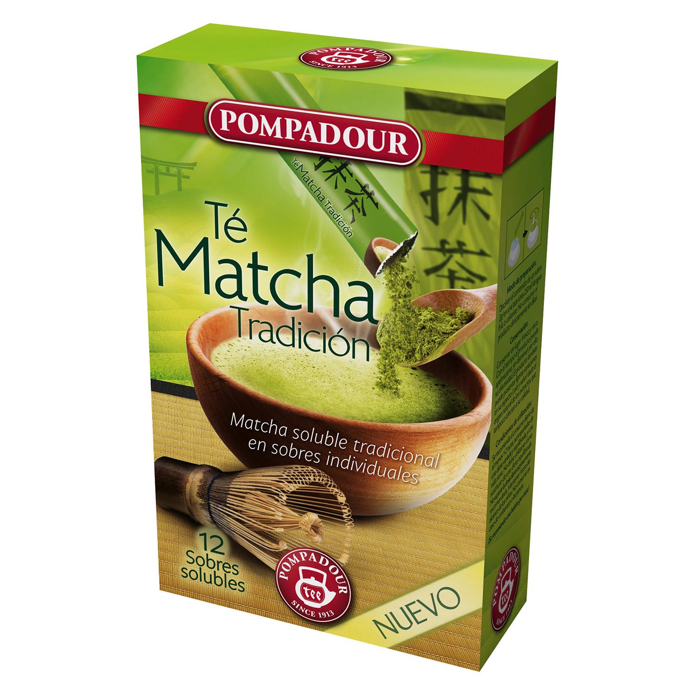 Té Matcha Tradición en sobres Pompadour 12 ud.