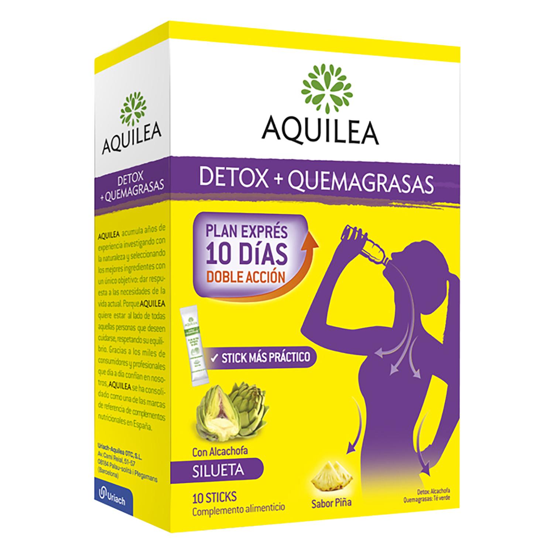 Complemento alimenticio detox y quemagrasas Aquilea 10 ud.