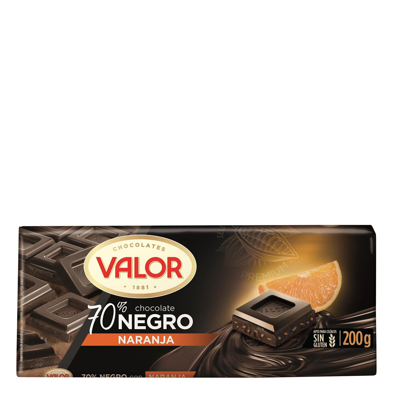 Chocolate negro 70% con naranja